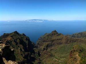 Blick in die Mascaschlucht und auf La Palma