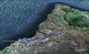 Wanderung von Los Gigantes nach Santiago del Teide