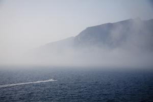 Calima - Fahrt in den Nebel