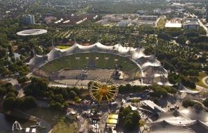 Olympiastadion - Vorbereitung auf das Robbie Williams Konzert