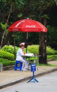 Coca Cola beschirmt