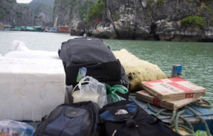 unser Gepäck auf Seefahrt