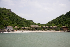 Hütten auf Monkey Island