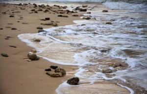 Wellen und Steine