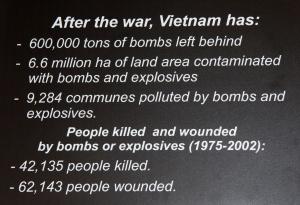 Infotafel - War Remnants Museum Saigon