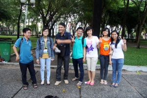 Vietamesische Studentengruppe