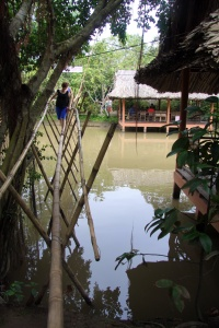Affen- oder Bambusbrücke