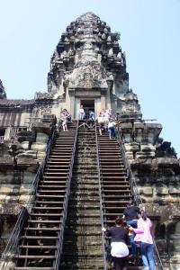 Angkor Wat - Treppe zum Heiligtum