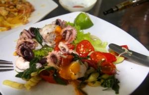 Gericht mit Meeresfrüchten