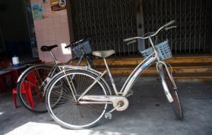 mit dem Fahrrad unterwegs