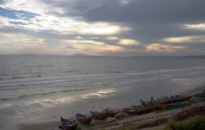 Mui Ne -Abendstimmung am Meer