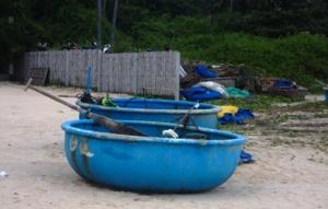 kreisrundes Fischerboot