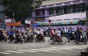 Morgenverkehr Saigon