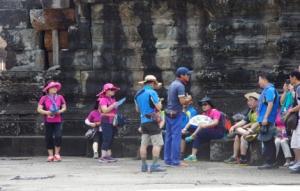 Gruppe koreanischer Touristen