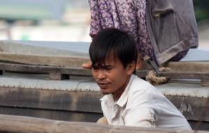 Vietnamese am Mekong