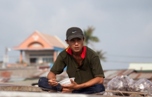 Vietnamese auf dem Floating Market
