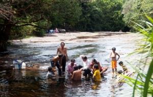PHu Quoc -Familienbad i Fluss