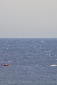 ein Segler auf dem Atlantik in Seenot