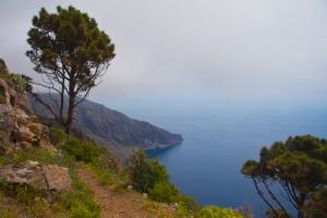 Blick auf Las Playas aus der Höhe