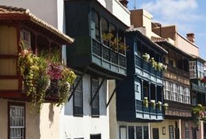 traditionelle Balkonhäuser in Santa Cruz de La Palma