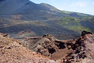 Blick vom Gipfel des Teneguía