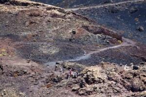 Wanderer in den Lavafeldern