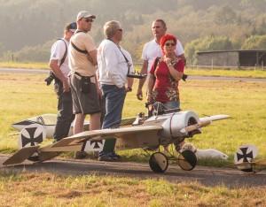 Modell mit Modellfliegern