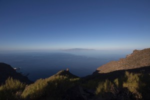 Blick über den Guama nach La Gomera
