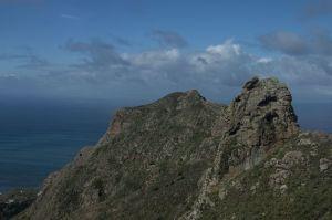Löwenkopf Felsen über Taganana