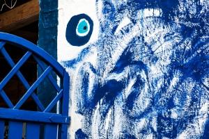 Blaue Kunst am Bau