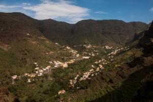 Blick auf das obere Valle Gran Rey