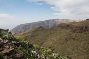 Calima über dem Valle Gran Rey