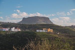 Blick auf Chipude mit der Fortaleza