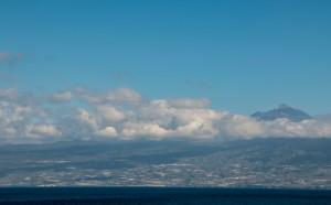 Blick auf Teneriffa mit dem Teide