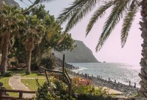 Playa de Argaga mit dem meditationscenter Argayall - Place of Light (Osho Jünger)