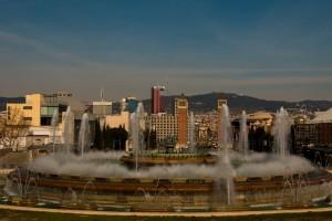 Blick auf Plaza Espana