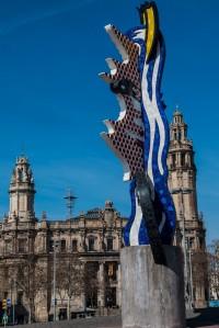 Roy Lichtenstein Skulptur im Hafen
