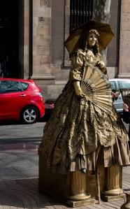 La Rambla - Dame in Gold