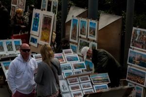 Bilder und Andenken überall auf den Straßen erhältlich