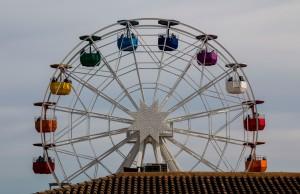 Tibidabo - Riesenrad mit Blick über Barcelona