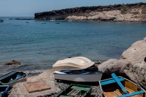 Fischerboote am Strand- El Puertito