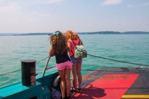 auf der Fähre nach Konstanz über den Bodensee