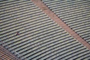 """Blick auf das """"fast"""" leere Stadion"""
