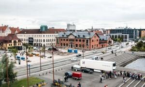Blick von der Kommandobrücke auf Aalborg