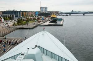 Blick von der Kommandobrücke