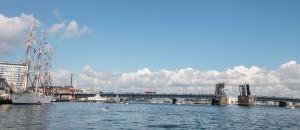 Stadthafen Aalborg mit Brücke über den Limfjord