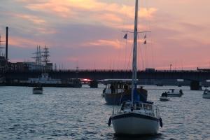 Abendstimmung Stadthafen Aalborg