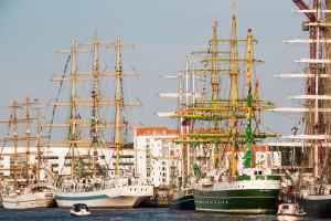 ...vor dem Feuerwerk - Empfang auf fast allen Schiffen