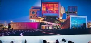 Restaurant mit Gemälde des Gebäudes