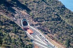 der neue Autobahntunnel bei Santiago del Teide